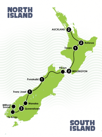 13 Day Natural NZ Queenstown to Auckland Itinerary