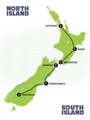 13 Day Relaxed Wine Touring New Zealand Itinerary
