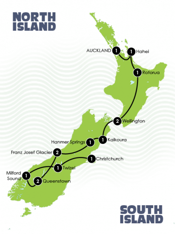 15 Day Highlights of New Zealand Adventure Tour