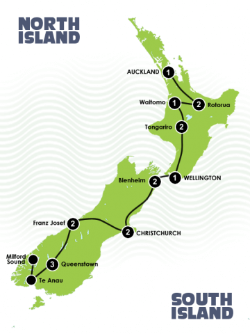 17 Day Easy Going Kiwi Adventure Itinerary