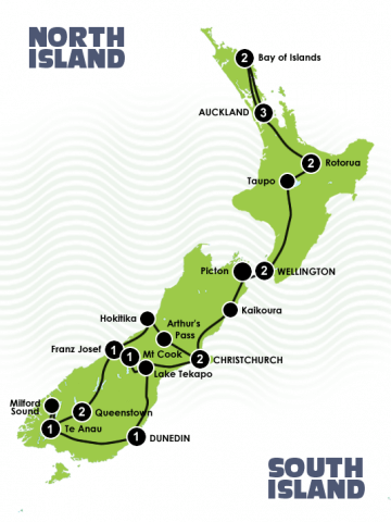 18 Day New Zealand Escorted Journey Christchurch - Auckland