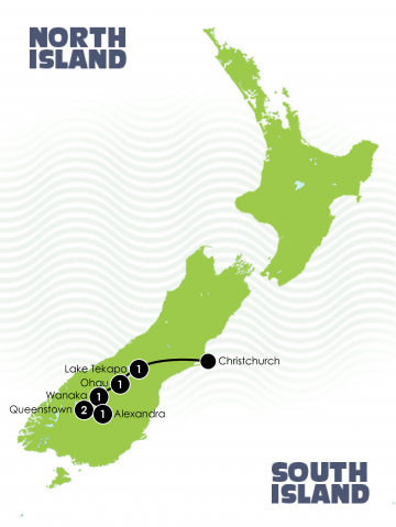 South Island Dirt Bike Trail large Map