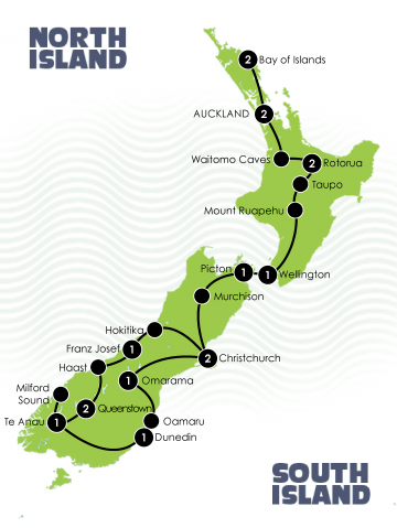 17 Day The Magical Tour of New Zealand