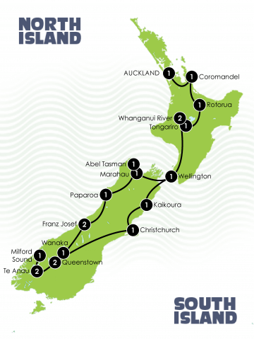 21 Day The Awesome New Zealand Tour
