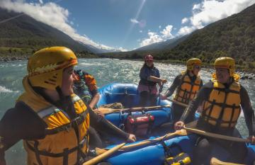 Rafting the Landsborough River