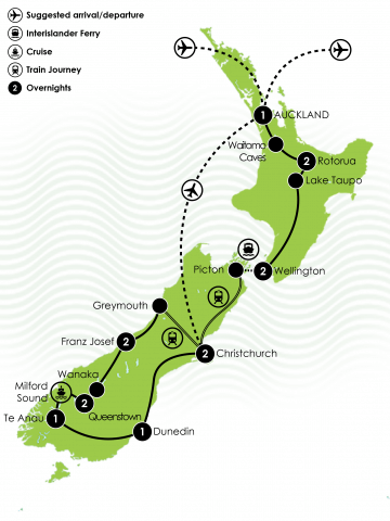 NZ Scenic Escape Large Map