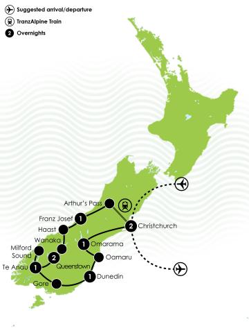 New Zealands South Island Coach Tour First Light Travel