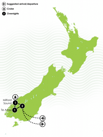 5 Day Fiordland Experience Large Map