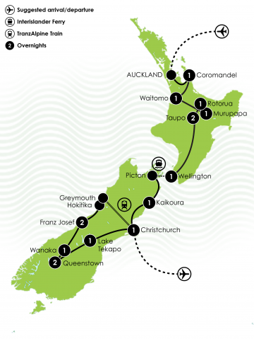 Amplified NZ Tour Large Map