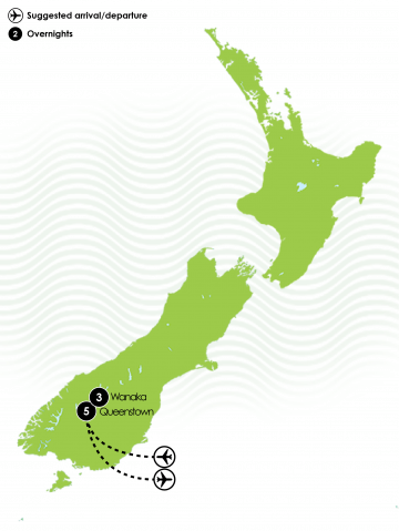 Luxurious South Island Ski Holidays Large Map