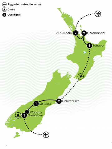 Maps NZ Family Adventure Holiday - kids 4 to 7 Large Map