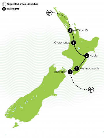 North Island Birding and Wildlife Tour Large Map