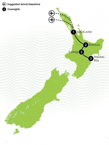 South Island Fly Fishing Tour Large map