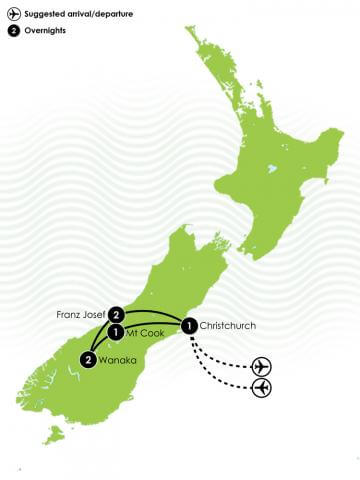 Southern Alps Circuit big map