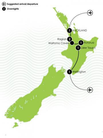 7 Day Best of NZ big map