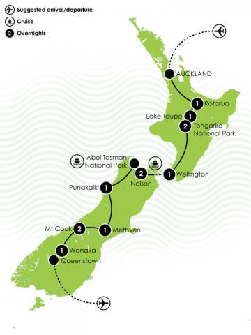 The Complete New Zealand Hiking Adventure Big Map