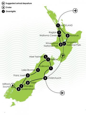 22 Day NZ Multisport Large Map