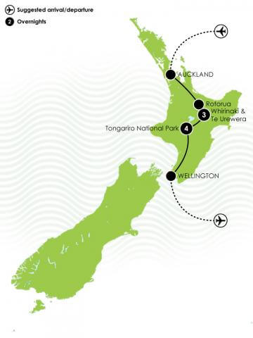 Ultimate North Island Adventure Large Map