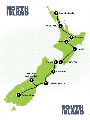 The Ultimate New Zealand Golf Tour Maps