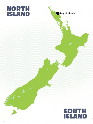 Bay of Islands Itinerary Tour Map