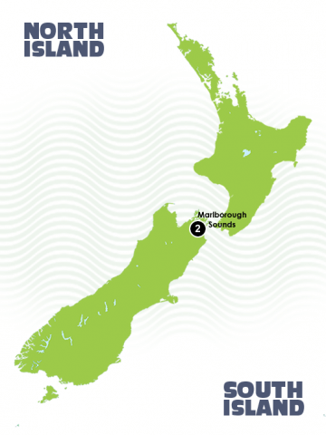 Queen Charlotte Track, New Zealand Map