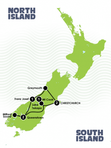 7 Day Quick New Zealand Fix Itinerary