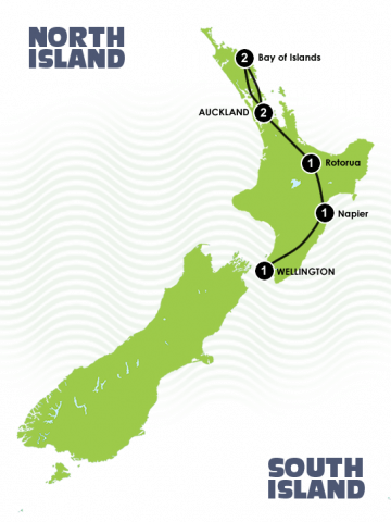 8 Day New Zealand North Island Heritage Culture Tour Itinerary