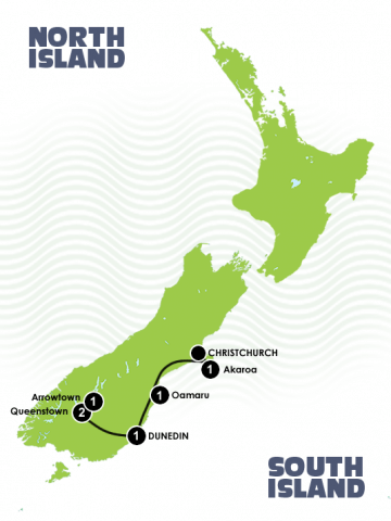 7 Day South Island Heritage Culture Tour Itinerary