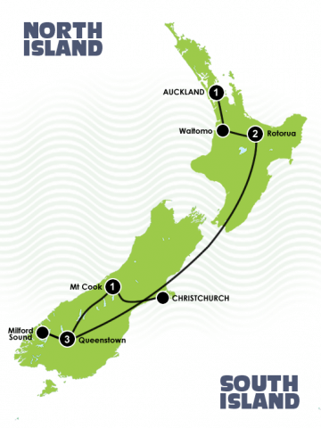8 Day Quick New Zealand Fix North & South Island Itinerary