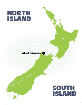 2 Day Abel Tasman Sailing Tour - Location Map