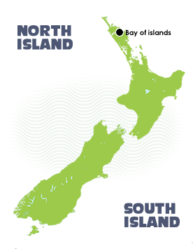 Sailing the Bay of Islands Location Map