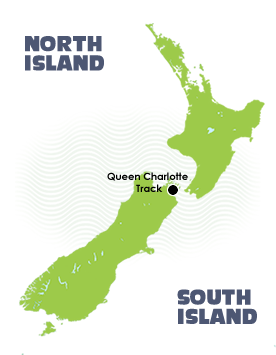 Walking Queen Charlotte Track - Location Map