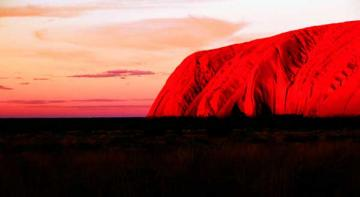 Ayers Rock, the Big Brother and a Devil of a Dingo