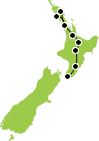 Small North Island Tour map